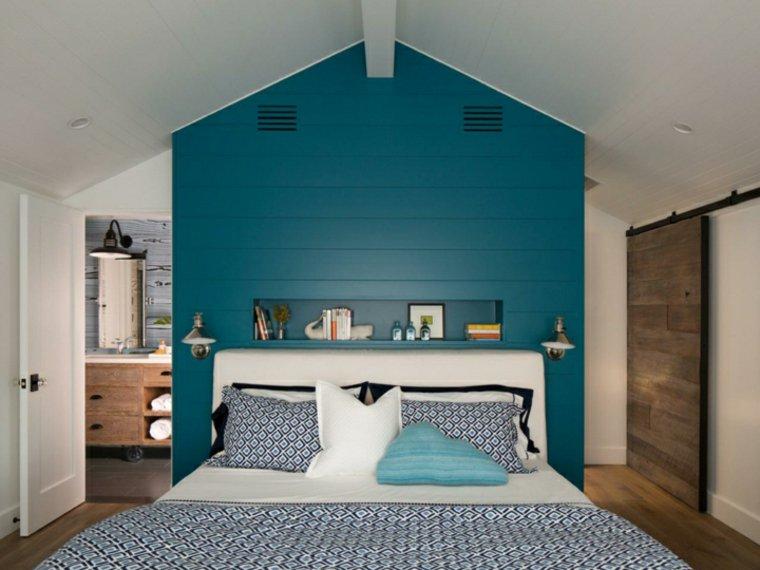 Camera da letto blu le tonalit pi belle per la zona - Parete blu camera da letto ...
