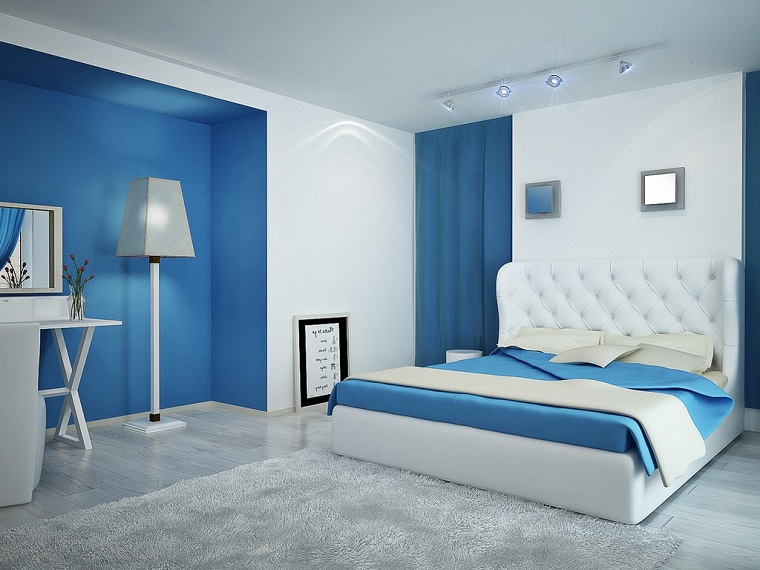 Stunning Parete Camera Da Letto Blu Ideas - House Design Ideas 2018 ...