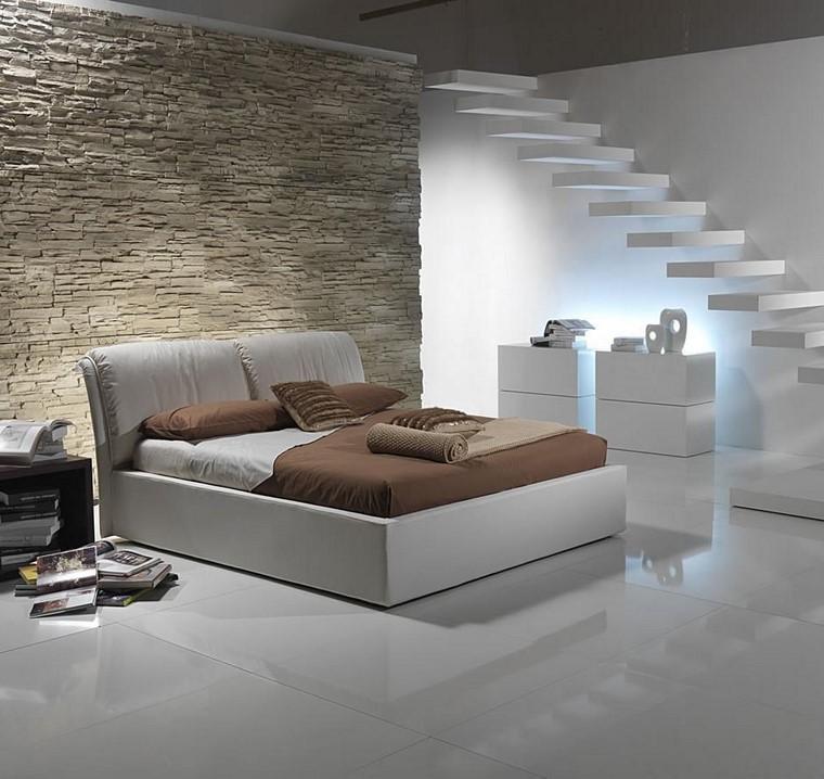 Pareti in pietra 20 idee per cambiare ogni ambiente della casa - Parete grigia camera da letto ...