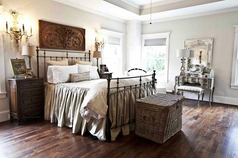 camere-da-letto-country-mobili-legno-ferro-battuto