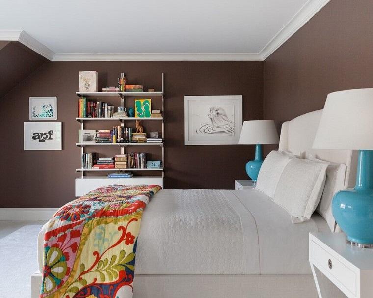 colore pareti camera da letto-colore-marrone