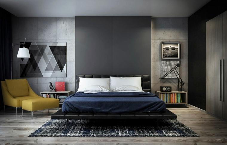 colore pareti camera da letto-feng-shui-grigio