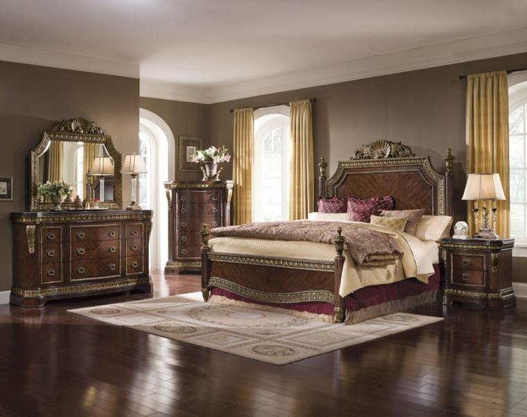 colore pareti camera da letto-stile-classico-grigio-scuro