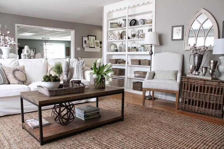 colore-pareti-casa-grigio-chiaro-salotto