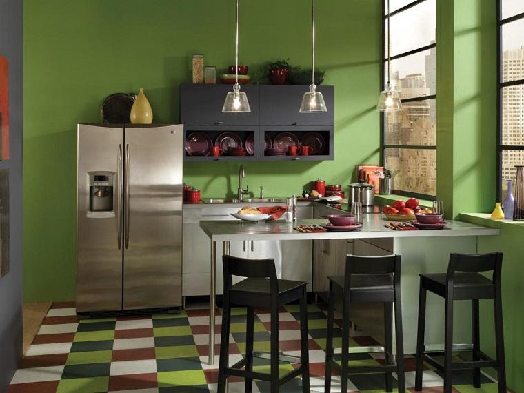 colore-pareti-casa-verde-oliva-cucina