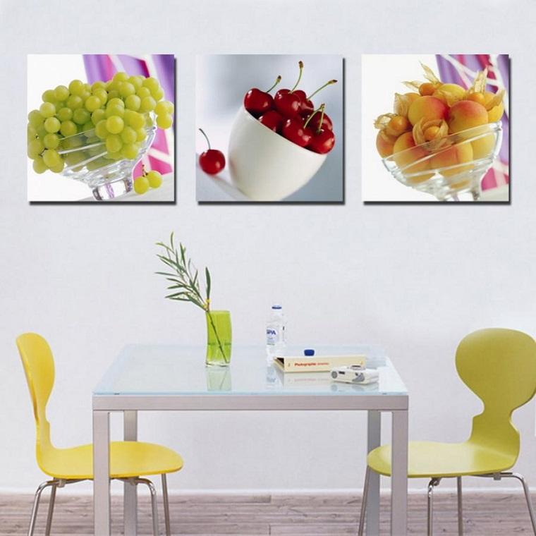 colore-pareti-cucina-bianco-quadri