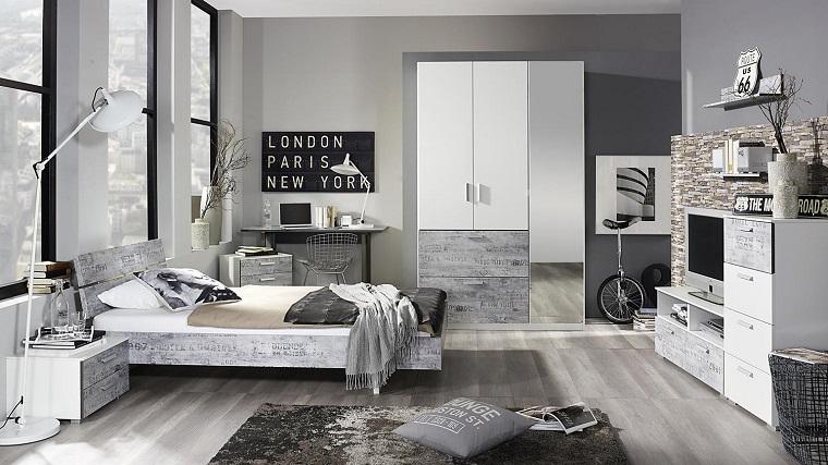 Colori camera da letto 10 sfumature di grigio per la zona - Colori camera da letto 2017 ...