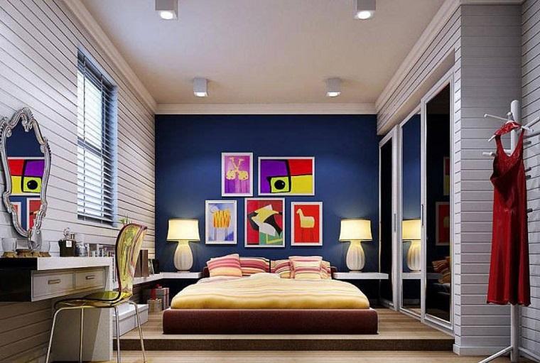 Pareti colorate camera da letto for Pareti colorate moderne