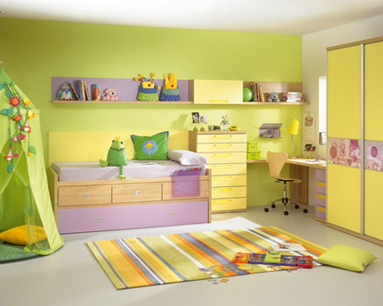 colori-pareti-camerette-verde-giallo