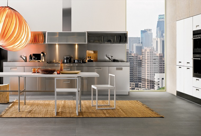 cucina-acciaio-soluzione-design-moderno