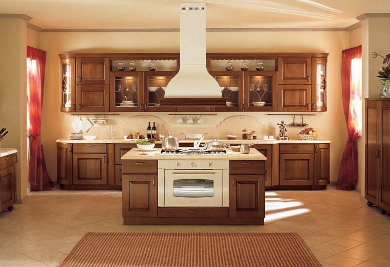 cucina-arte-povera-isola-piano-cottura-forno
