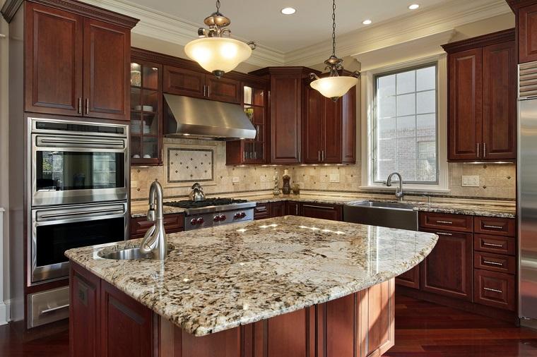 cucina-arte-povera-top-marmo-isola