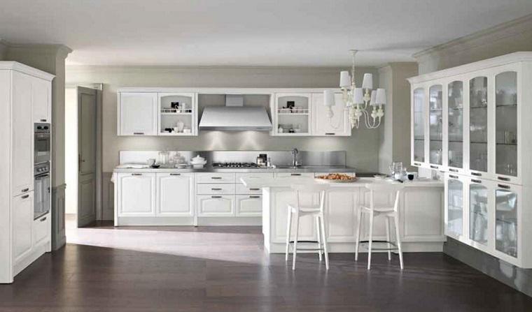 Cucine bianche classiche una scelta di stile sempre al for Complementi arredo cucina