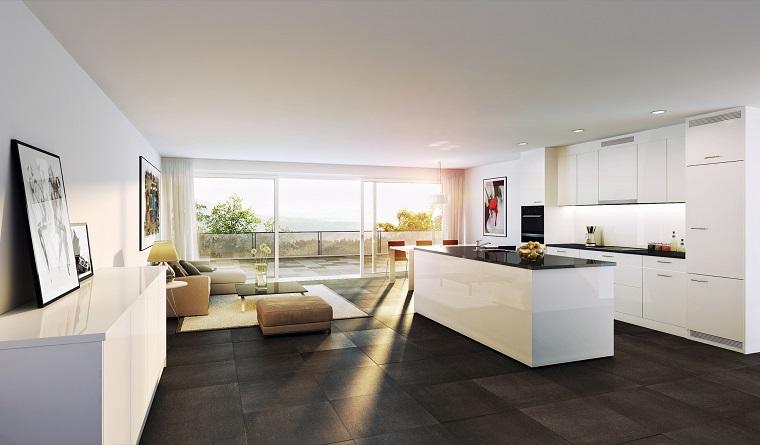 cucina open space-arredamento-soggiorno