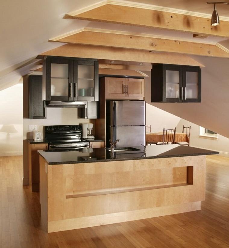 Cucina Con Isola In Legno Scorrevole Interior Design : Cucine piccole con isola una soluzione più che possibile
