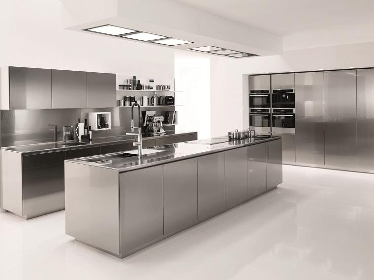 cucine acciaio inox-proposta-isola-centrale