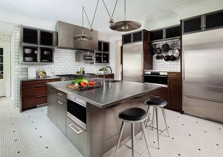 Cucine acciaio inox look professionale e design ultra moderno - Cucine in acciaio per casa ...
