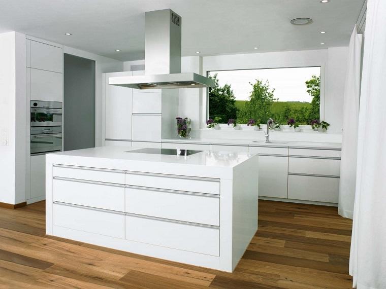 cucine-bianche-arredamento-moderno-pavimentazione-legno