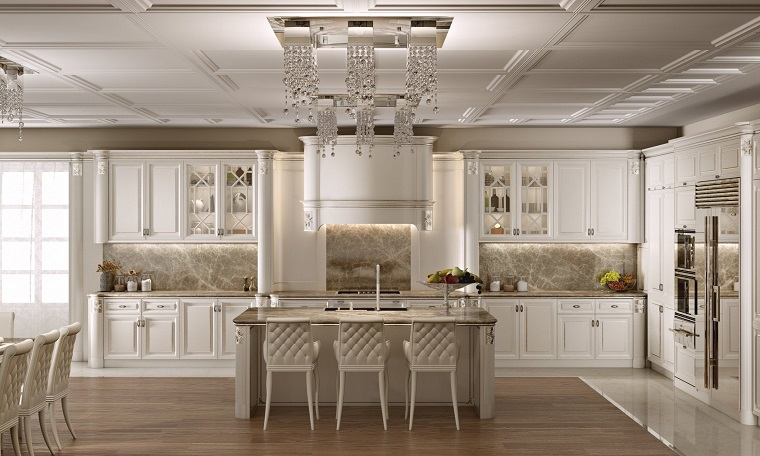 Beautiful Cucine Classiche Bianche Pictures - Amazing House Design ...