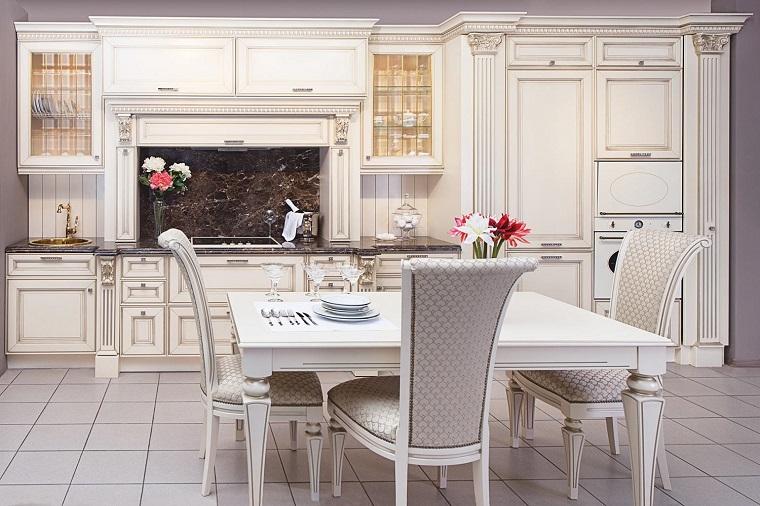 Cucine bianche classiche una scelta di stile sempre al for Cucine lineari bianche
