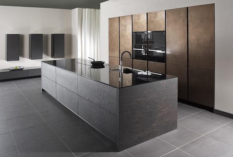 cucine con isola centrale-design-arredamento-minimal