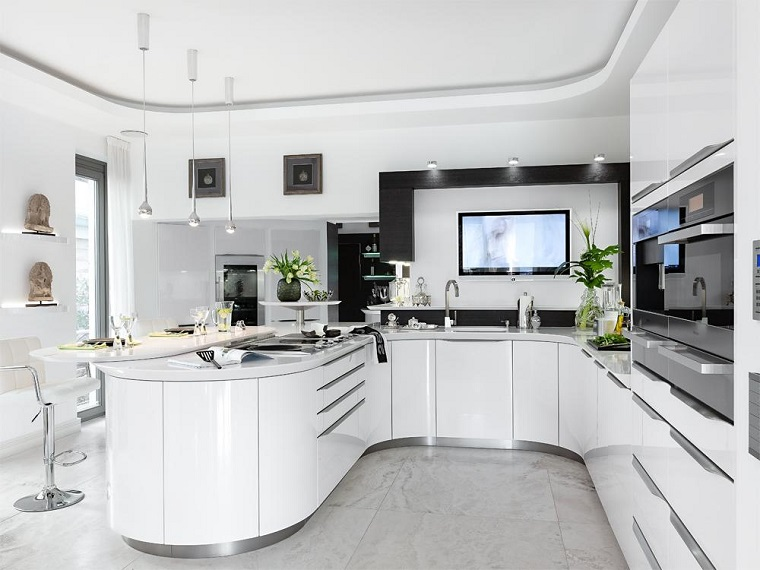 cucine-moderne-bianche-isola-laterale