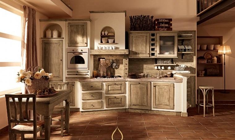 cucine-rustiche-tavolo-pranzo-legno