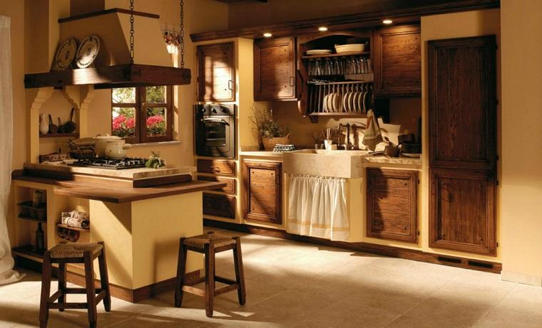 cucine stile rustico-isola-laterale