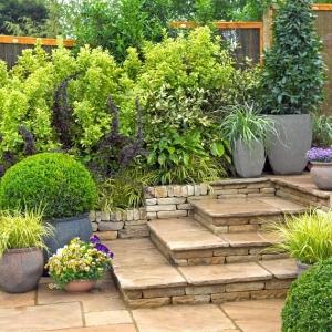 Aiuole per giardino tante composizioni piene di colori - Giardino con pietre ...
