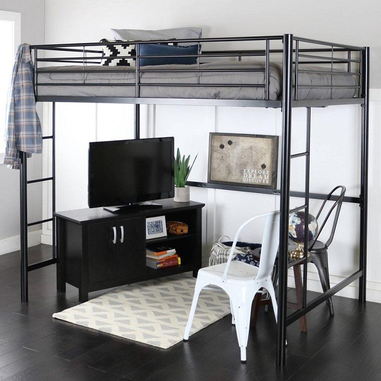 letto-a-castello-per-adulti-acciaio-nero
