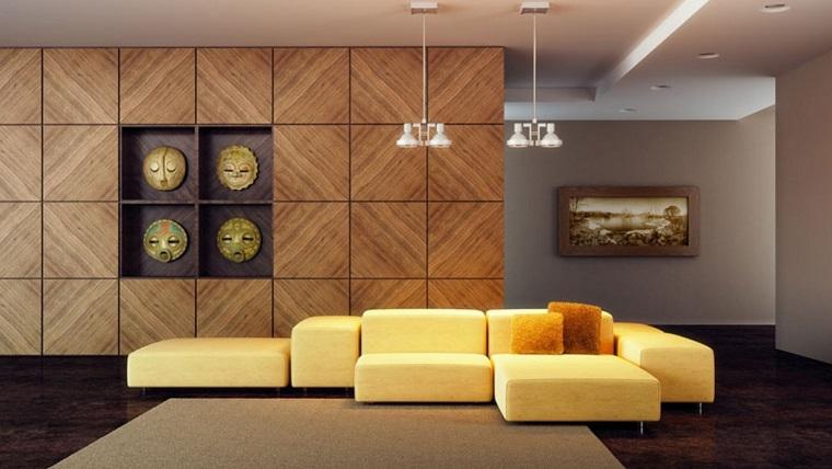 Mobili per soggiorno 10 proposte dal classico al moderno - Divano color senape ...