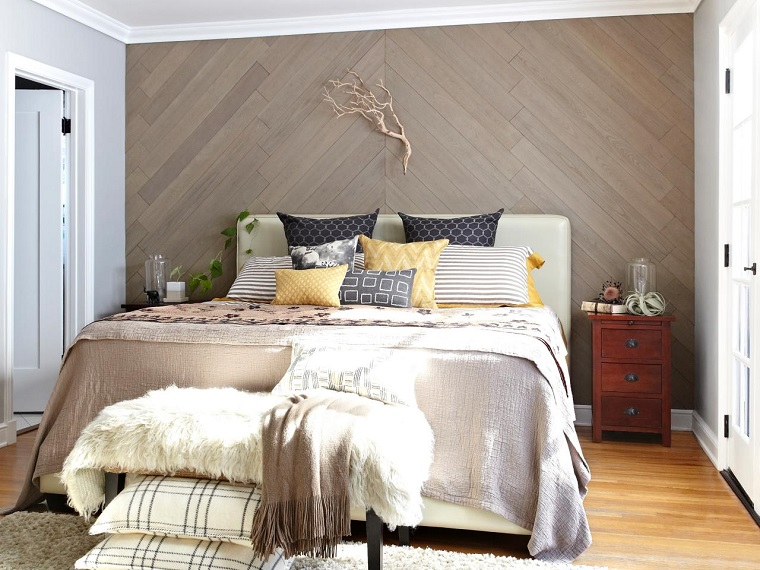 pannelli decorativi per pareti-legno-camera-letto