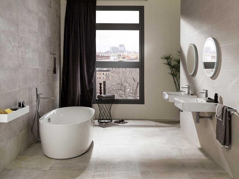 parete-tortora-sfondo-ideale-bagno- moderno