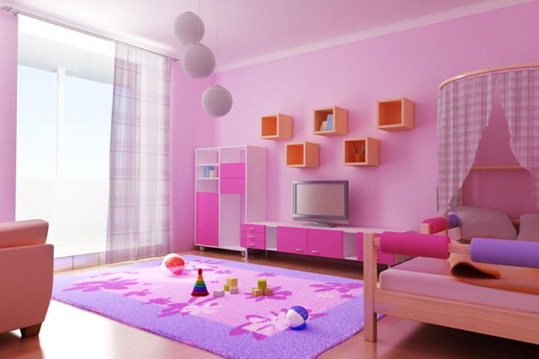 pareti-colorate-rosa-camera-letto-ragazza