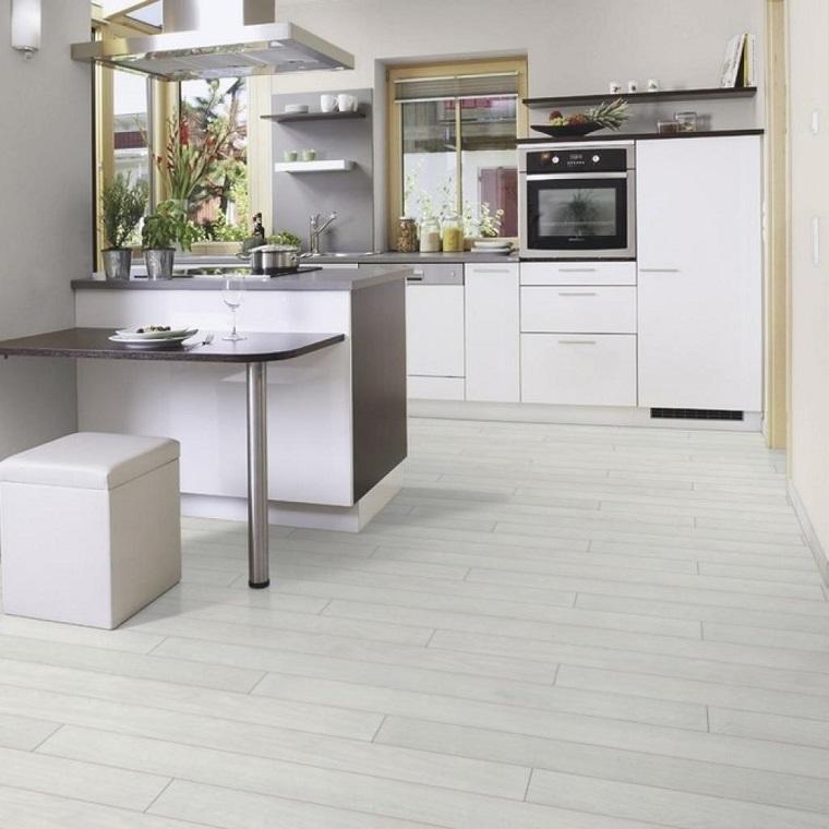 parquet-colore-bianco-idea-cucina