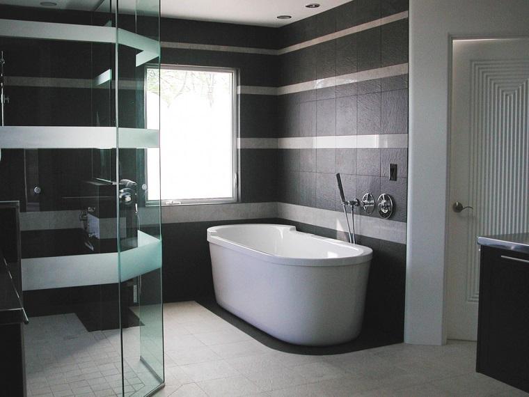 Piastrelle bagno moderno nero
