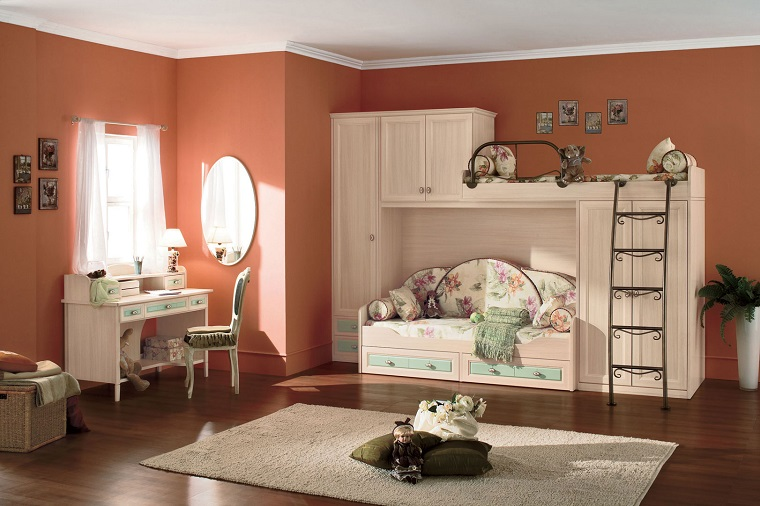 Pittura camerette bambini i colori e le fantasie per lo - Colori pareti camerette per bambini ...
