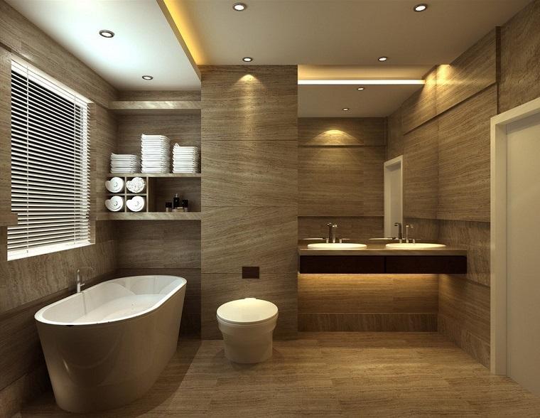 Rivestimento bagno moderno dalle piastrelle ai pannelli le ultime tendende - Bagno effetto legno ...