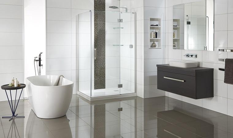 Bagni Piastrelle Bianche : Rivestimento bagno moderno dalle piastrelle ai pannelli le