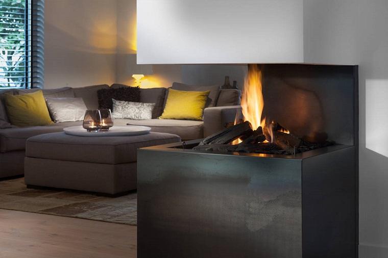 Salotto Da Giardino Con Camino External Design : Salotto con camino una zona living che unisce comfort e