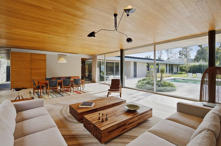 soffitti in legno-zona-living-stile-rustico-moderno