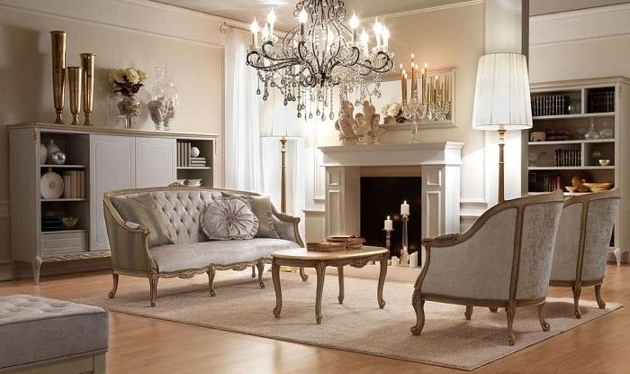 Emejing Soggiorni Classici Bianchi Photos - Idee Arredamento Casa ...