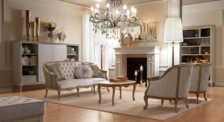 Soggiorni classici quando l 39 eleganza diventa protagonista for Arredamento moderno elegante
