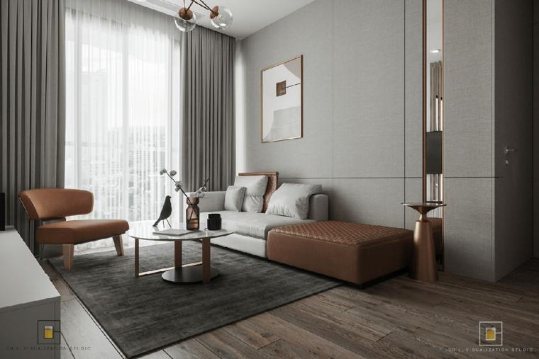 Arredamento soggiorno con divano bicolore, salotti moderni, soggiorno con tappeto