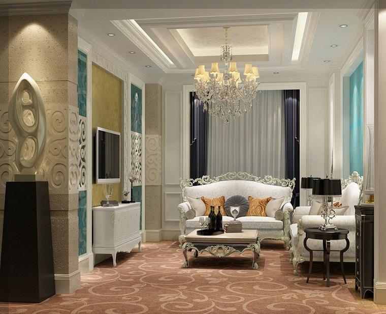 soggiorno-classico-arredamento-mobili-colore-bianco