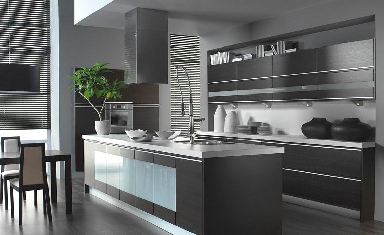 stile-contemporaneo-mobili-cucina-grigi