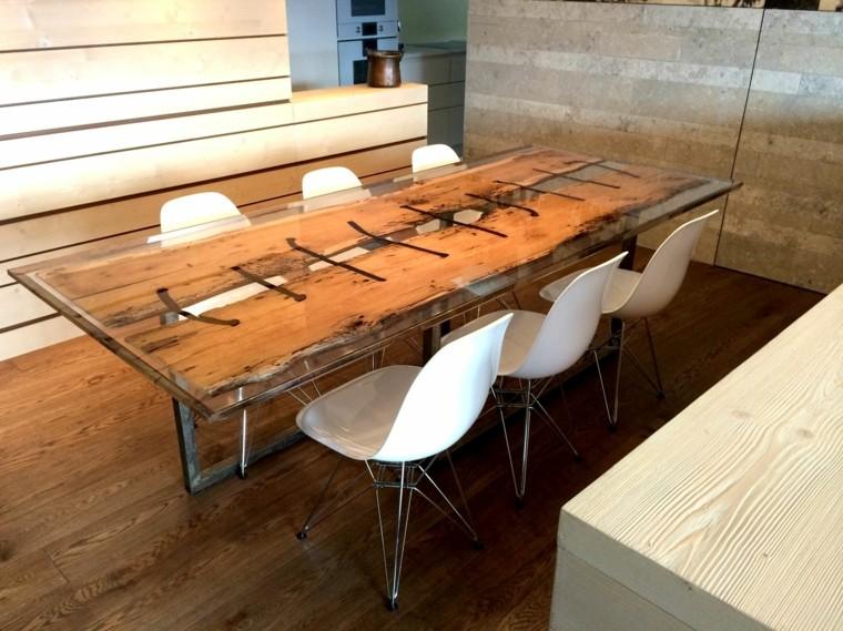 Tavolo in legno rustico moderno tavolo da pranzo allungabile moderno ...
