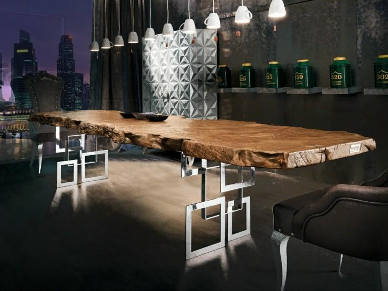 Tavolo In Legno Rustico Moderno.Tavoli In Legno Grezzo Un Dettaglio Rustico Di Grande