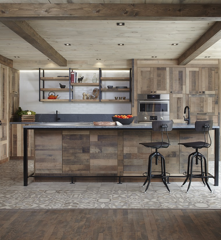 travi a vista-legno-stile-rustico-moderno