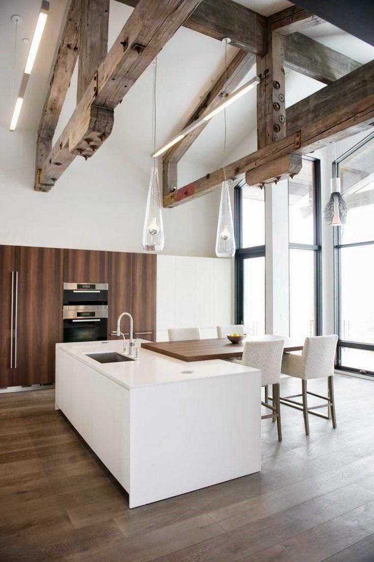 travi-in-legno-cucina-design-originale
